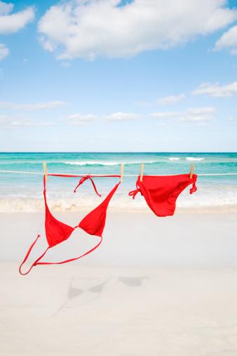 Bikini「Beach Bikini Hanging on Clothesline for Caribbean Sea Summer Fun」:スマホ壁紙(8)