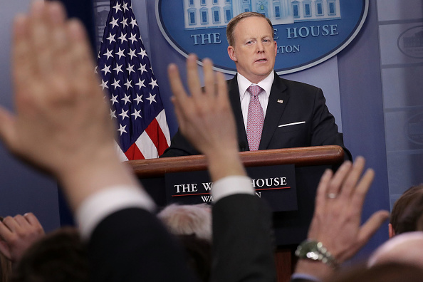 Press Room「Sean Spicer Holds Daily Press Briefing At White House」:写真・画像(1)[壁紙.com]
