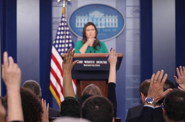 Press Room「Press Secretary Sarah Sanders Holds A Briefing At The White House」:写真・画像(8)[壁紙.com]