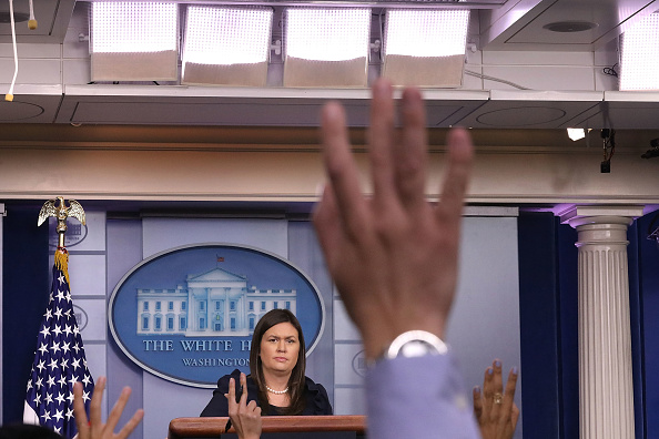 Press Room「White House Press Secretary Sarah Sanders Holds Briefing At The White House」:写真・画像(6)[壁紙.com]