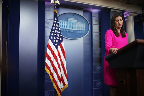 Press Room「Press Secretary Sarah Sanders Holds Daily Press Briefing At The White House」:写真・画像(18)[壁紙.com]
