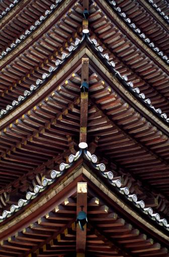 和柄「Five story pagoda」:スマホ壁紙(18)