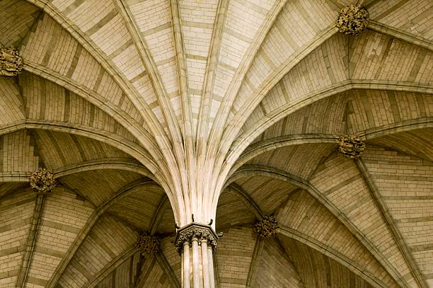 Vaulted ceiling of the chapter house of Westminster Abbey, London, 2009:ニュース(壁紙.com)