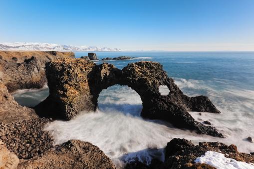 Arnarstapi「Iceland, Arnarstapi cliffs」:スマホ壁紙(8)