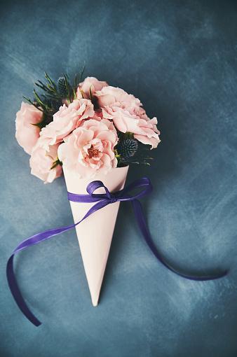 母の日「母の日の手作りのバラの花束」:スマホ壁紙(2)