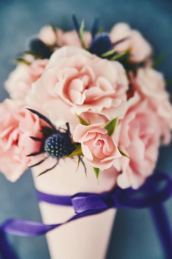 母の日「母の日の手作りのバラの花束」:スマホ壁紙(11)