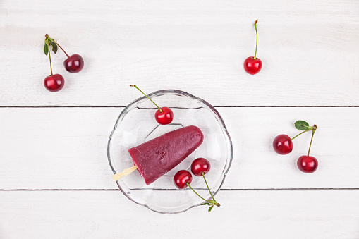 サクランボ「Sour cherry ice lollies and cherries」:スマホ壁紙(10)