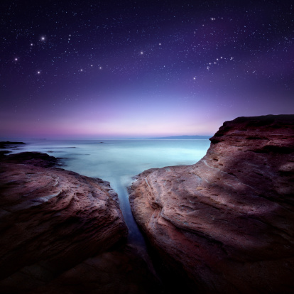Fantasy「Night shot of sea」:スマホ壁紙(17)