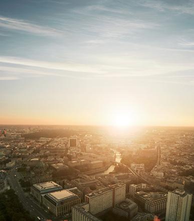 2014「View of Berlin at sunset.」:スマホ壁紙(2)