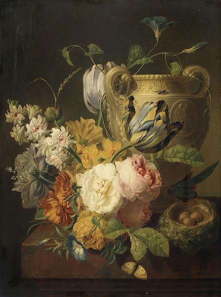朝顔「Flowers By A Stone Vase」:写真・画像(6)[壁紙.com]