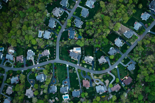 Mid-Atlantic - USA「Aerial photography of suburbs, NY」:スマホ壁紙(7)