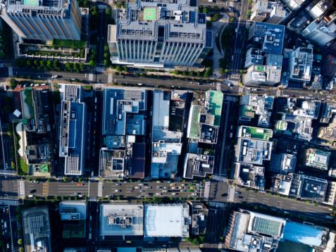 Tokyo - Japan「Aerial photography of Kanda」:スマホ壁紙(19)