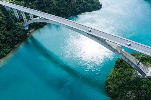 Island「Aerial photograph of the beautiful sea and bridge.」:スマホ壁紙(1)