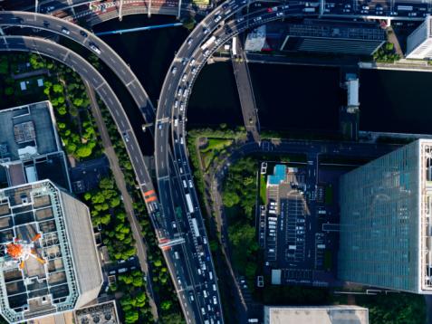 Elevated Road「Aerial photography of [Hamasakihashi] junction」:スマホ壁紙(15)