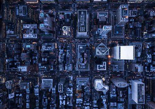 City Street「Aerial photography of NY」:スマホ壁紙(4)
