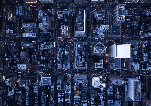 Aerial photography of NY:スマホ壁紙(壁紙.com)