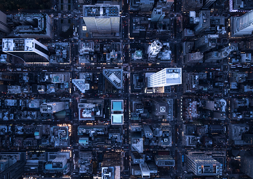 City Street「Aerial photography of NY」:スマホ壁紙(2)