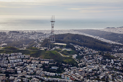 cloud「Aerial photography view east of Clarendon Heights in the San Francisco Bay Area. California, United States.」:スマホ壁紙(11)