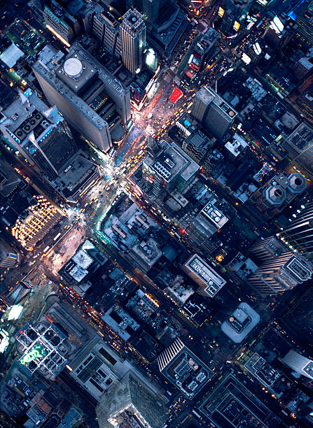 Aerial photography of Times Square, NY:スマホ壁紙(壁紙.com)