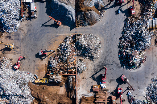 Earth Mover「Aerial photograph of waste disposal site.」:スマホ壁紙(0)
