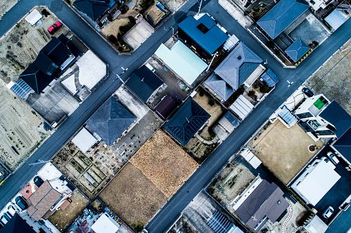 City Street「Aerial photograph of residential area.」:スマホ壁紙(3)