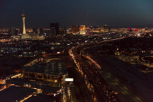 Performance Group「Aerial photo over North Las Vegas looking South at The Strip, night」:スマホ壁紙(9)