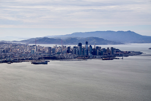 cloud「Aerial Photography view north-west of San Francisco, San Francisco Bay Area. California, United States.」:スマホ壁紙(13)