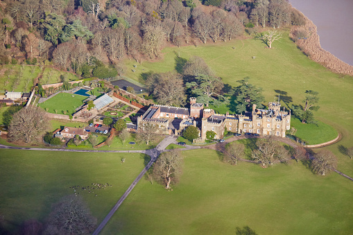 West Sussex「Aerial photography view north-east of Knepp Castle Estate, Horsham, RH13 8LJ, UK.」:スマホ壁紙(17)