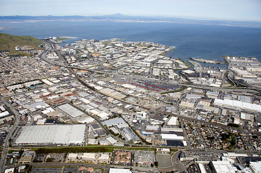 Industrial District「Aerial photography view north-east of Lindenville in the San Francisco Bay Area.」:スマホ壁紙(11)