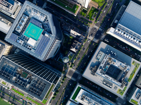 Built Structure「Aerial photography of Marunouchi」:スマホ壁紙(1)