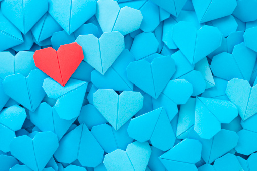 Valentine's Day「Red paper heart」:スマホ壁紙(4)