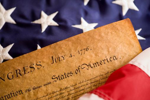 Fourth of July「Declaration and American Flag」:スマホ壁紙(6)