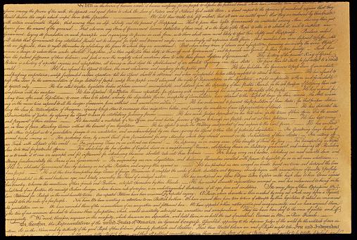 Manuscript「Declaration of Independence」:スマホ壁紙(0)