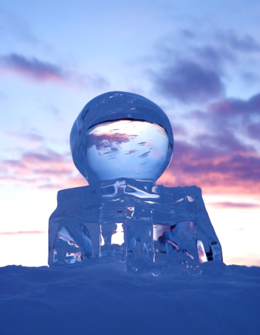 Ice Sculpture「Scupture of the globe created in ice at sunset」:スマホ壁紙(16)