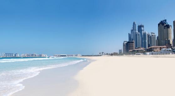 豪華 ビーチ「ジュメイラビーチと街並み」:スマホ壁紙(18)