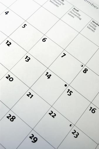 月「Calendar」:スマホ壁紙(10)