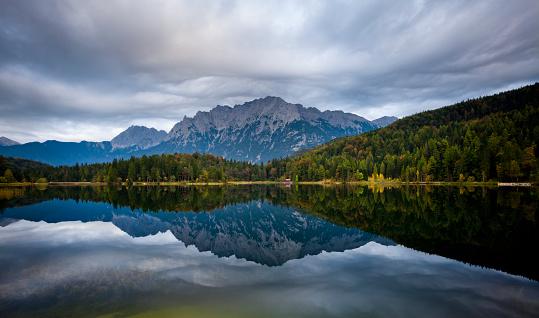 Germany「Lake Lautersee」:スマホ壁紙(7)