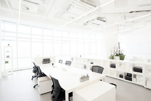 Clean「Modern business building office  interior in Urban city」:スマホ壁紙(14)