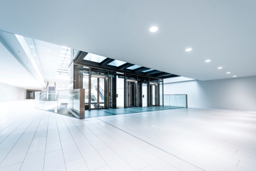 Illuminated「Modern business hall lifts」:スマホ壁紙(10)