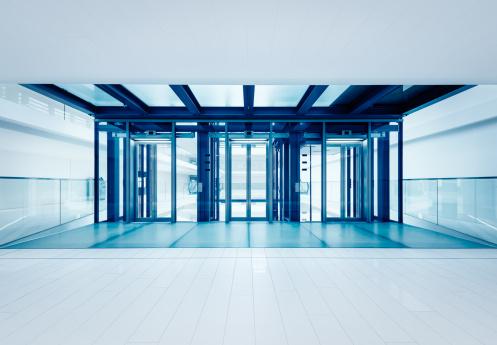 Elevator「モダンなビジネス用エレベーターホール」:スマホ壁紙(1)