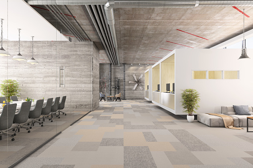 Open Plan「Modern business office interior」:スマホ壁紙(19)