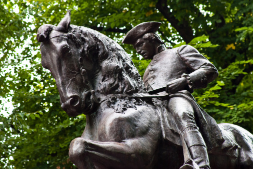 Patriotism「Paul Revere statue in North End Boston, MA」:スマホ壁紙(1)