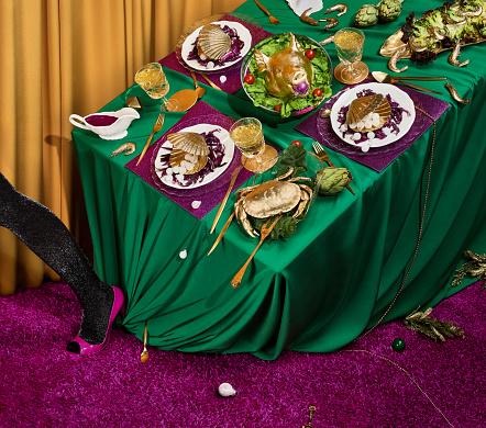 festive food for the New Year「Golden Feast」:スマホ壁紙(6)
