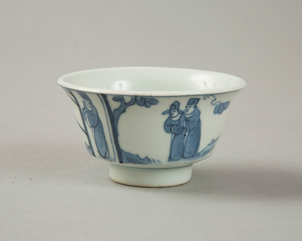 Crockery「Copy of late Ming blue and white cup with figures in landscape, 20th century」:写真・画像(19)[壁紙.com]