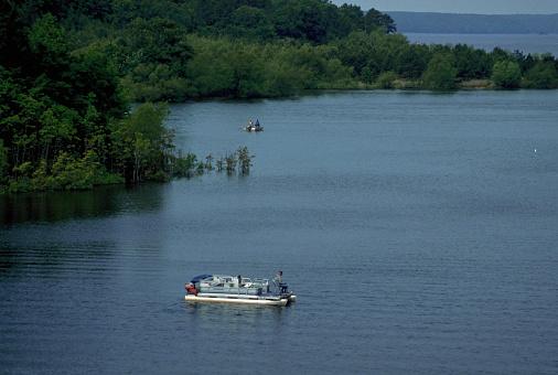 Arkansas River「Overview of Flat Boat on River」:スマホ壁紙(18)