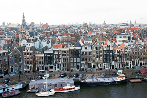 North Holland「Overview of an Amsterdam skyline」:スマホ壁紙(2)