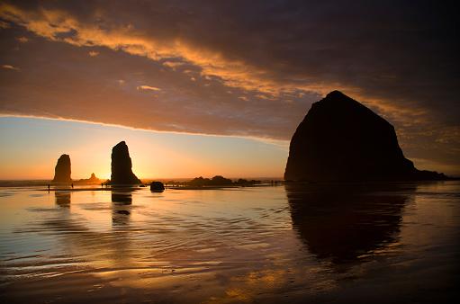 Cannon Beach「Cannon Beach Sunset Splendor」:スマホ壁紙(12)