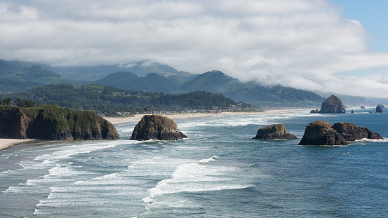 Haystack Rock「Cannon Beach, Oregon」:スマホ壁紙(14)