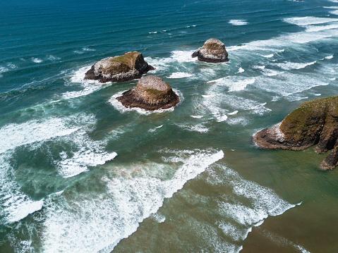 Wave「キャノン ビーチ航空写真ビュー」:スマホ壁紙(16)