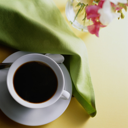 Napkin「Above View of Cup of Coffee」:スマホ壁紙(19)